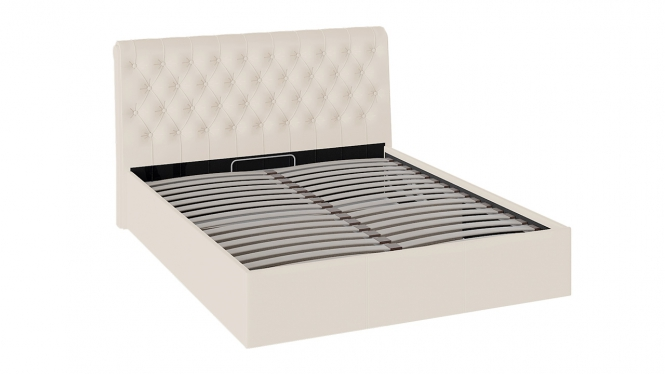 Кровать «Скарлет» с мягким изголовьем и подъемным механизмом (Бежевая)