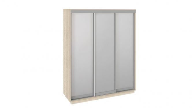 Шкаф-купе 3-х дверный «Румер» 1800 (Дуб сонома, Зеркало/зеркало/зеркало)